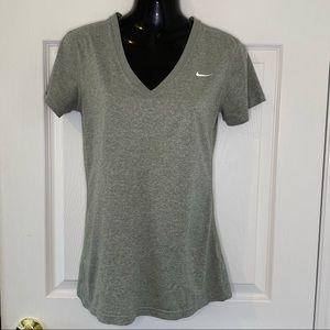 Nike Dri-Fit Women's T Shirt V Neck Size Small
